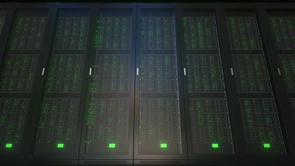 Realistic Server Racks in Modern Server Room
