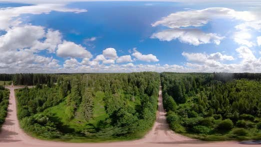 Cover Image for VR360 Flight Over the Green Forest