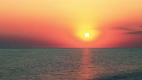Seascape at sunset background
