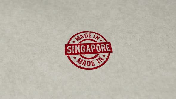 Made in Singapore stamp and stamping loop