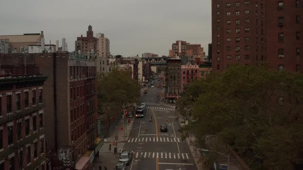 Thumbnail for Low Flight Through Manhattan, New York City Street, Chinatown