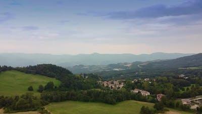 Beautiful Mountainous Landscape in Tuscany Italy
