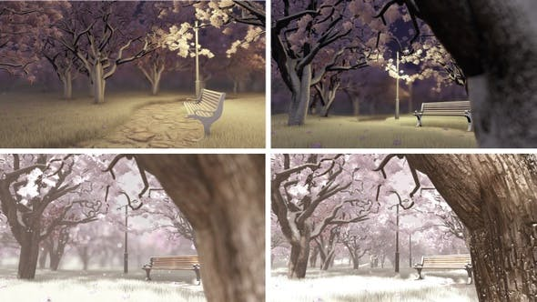 Thumbnail for Snow-covered Trees And Benches