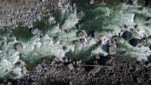 Birds Eye View Slow Motion River Background