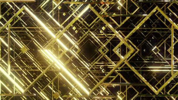 Thumbnail for Golden Line For Art Deco 02 4K