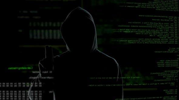 Thumbnail for Black Hood Man Making Online Transaction, Money Laundering, Financial Fraud