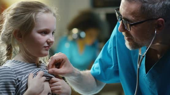 Thumbnail for Doctor Examining Girl with Stethoscope
