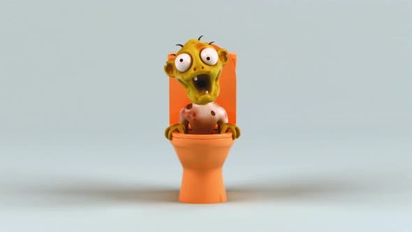 Thumbnail for Fun zombie out of the toilets
