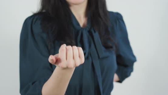 Thumbnail for A woman beckoning