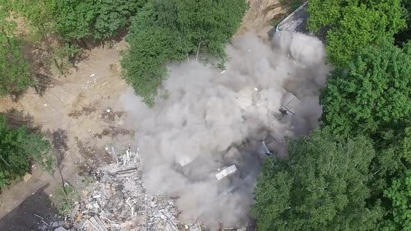 Thumbnail for An Aerial View of a Building Being Demolished