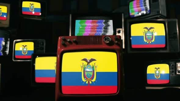 Thumbnail for Ecuador flags and Vintage Televisions.