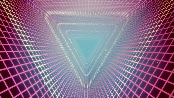 Cover Image for Grid Tunnel Triangle Light Retro 02 HD