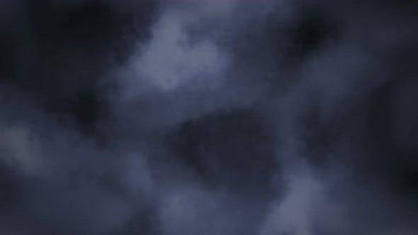 Lightening storm in clouds