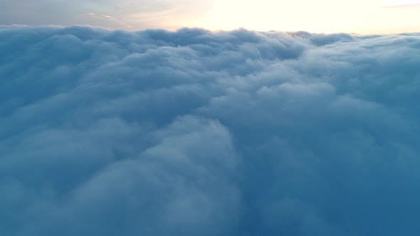 Thumbnail for Flight Over Real Dusk Clouds