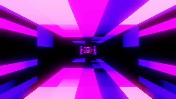 Retro Neon Color Tunnel