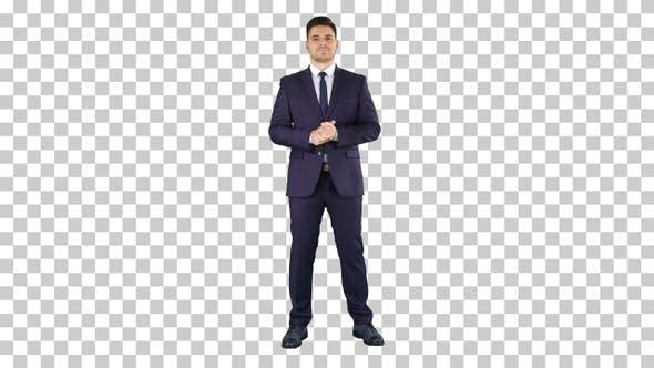 Thumbnail for Businessman Listening, Alpha Channel