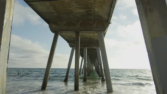 Thumbnail for Sea water under a pier