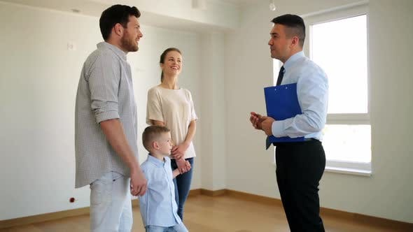 Thumbnail for Happy Family and Realtor at New House or Apartment 2