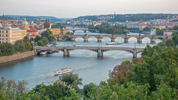 Thumbnail for Bridges of Prague Including the Famous Charles Bridge Over the River Vitava