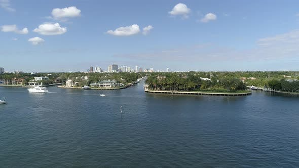 Thumbnail for Aerial of Fort Lauderdale downtown and isles