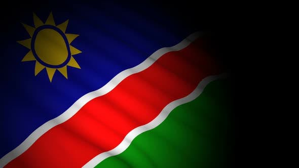 Thumbnail for Namibia Flag Blowing in Wind