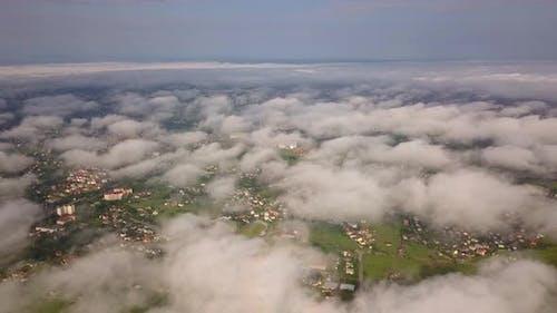 Aerial view of Ivano-Frankivsk city in Ukraine