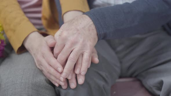 Thumbnail for Old Woman's Hands Holding the Hand of Old Man