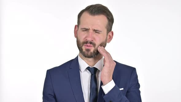 Thumbnail for Sick Businessman Having Toothache, White Background