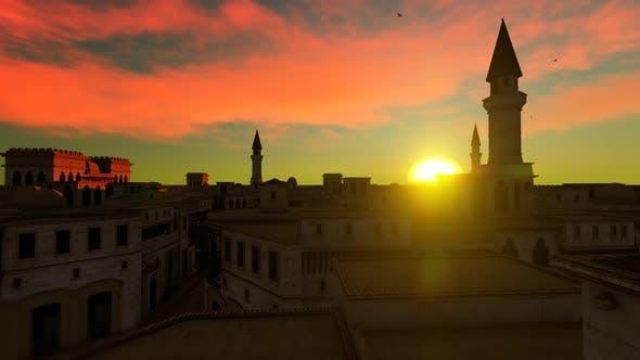 Thumbnail for Arabian City Sunset Landscape