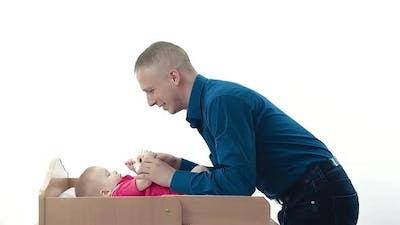 Young Dad Playing with a Child
