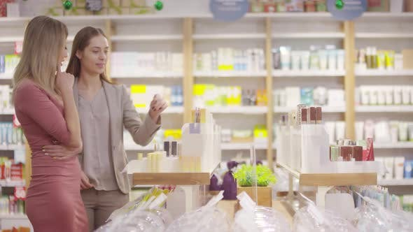 Thumbnail for Female Beauty Consultant Helping Customer at Store