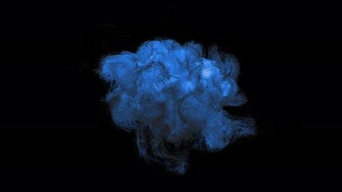 Abstract Blue Smoke Turbulence Seamless Loop