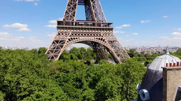 Eiffel tower from a height. Paris, France.
