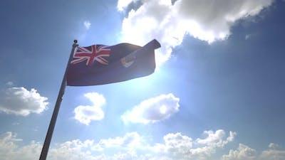 Saint Helena Flag on a Flagpole V4