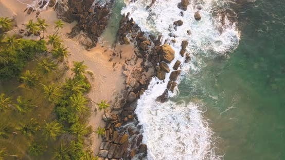 Thumbnail for Ocean Waves at Sunset. Sri Lanka