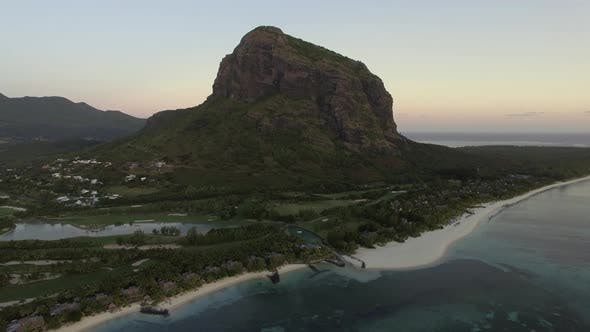 Thumbnail for Le Morne Brabant Peninsula with Mountain, Aerial Mauritius