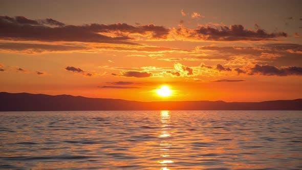 Thumbnail for Sunset Coast Landscape Nature Timelpase dusk sun beautiful