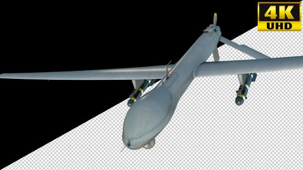 Cover Image for Air Strike Drone Fighter On Alpha Channel Loops V1