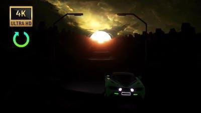 4K - Vj Loop Sci-Fi Car Racing