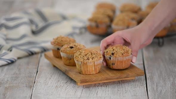 Thumbnail for Homemade Blueberry Muffins for Breakfast.