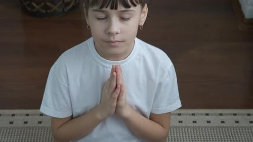 Teen tranquility in yoga.