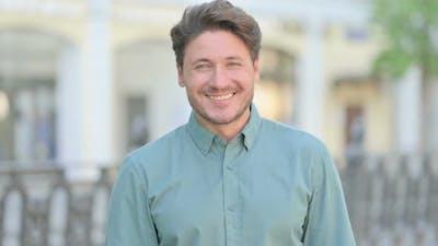 Outdoor Man Smiling at Camera
