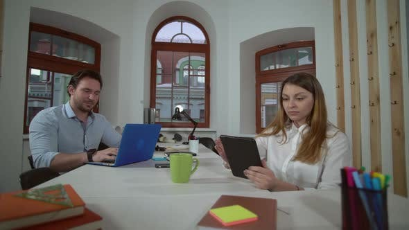 Coworkers in Startup