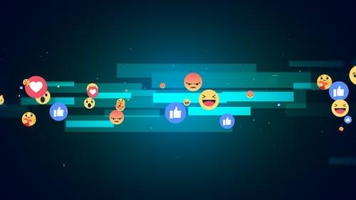 Facebook Reaction Emoji Background V4