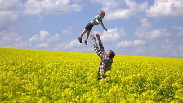 Happy Farmer and Son