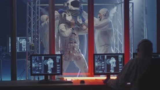 Thumbnail for Scientists Dressing Up Astronaut