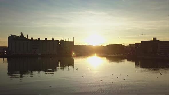 Thumbnail for Sunset Over the Aarhus Harbor