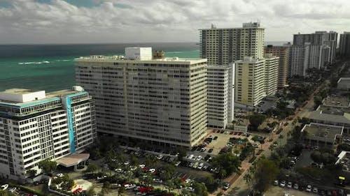 Aerial video beachfront realty Fort Lauderdale FL