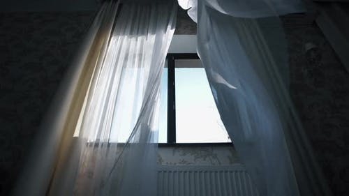 Curtains Flutter in the Wind