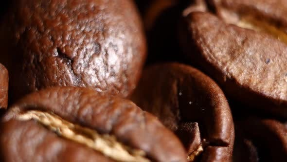 Thumbnail for Light Roasted Coffee Beans. Rotating. Close Up